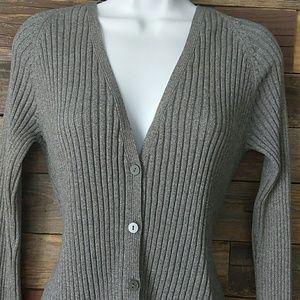 Gap gray button down cardigan size medium